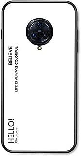 Case for VIVO NEX 3 Case,Gradient Clear Tempered Glass Cover Case Compatible for VIVO NEX 3-White