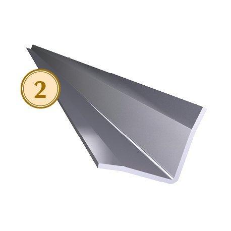 CubetasGastronorm - Guardavivos de esquina interior acero inoxidable 2000 mm. Dimensiones: 25x25x2000 mm. - 083230