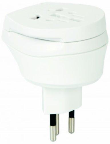 2 Stück im SET - Welt Kombi Reisestecker Stromadapter - Adapter für Kroatien auf Deutschland für Steckdosen mit Schukostecker, Euro, 2 pol und 3 polige Strom Netz Stecker - HR-DE