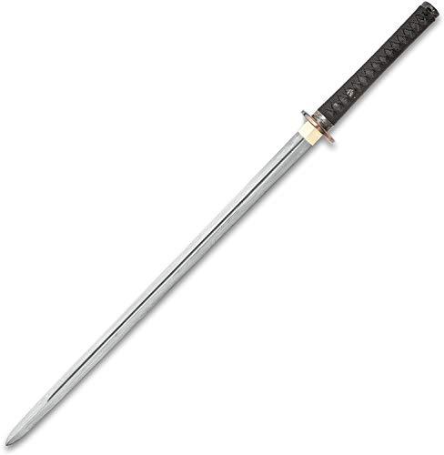 Dragon Lord Handmade Katana/Samurai Sword - Double Edged; Hand Forged Damascus Steel, 1,000+ Layers - Distinctive Custom Dragon Tsuba - Genuine Ray Skin - Functional, Battle Ready, Full Tang