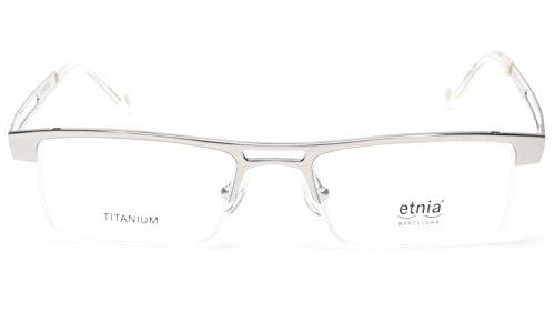 NEW Etnia Barcelona QUEBEC-SL SILVER EYEGLASSES GLASSES 50-18-140 B27mm SPAIN