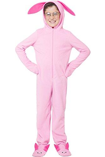 A Christmas Story Kids 'Ralphie Deranged Pink Bunny' Onesie Hooded Pajama, Pink, L/XL