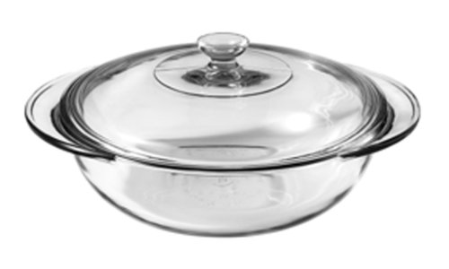 Anchor Hocking Fire-King Casserole Baking Dish with Lid, Glass, 2-Quart
