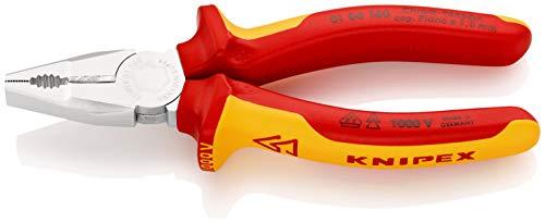 KNIPEX Kombizange Chrom-Vanadin 1000V-isoliert (160 mm) 01 06 160