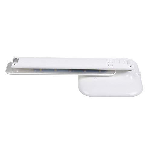 Lámpara de escritorio LED inalámbrica con calendario, temperatura, reloj despertador, interruptor táctil, luz de lectura recargable USB para estudio de oficina