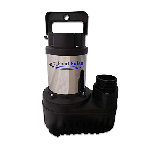 HALF OFF PONDS Pond Pulse 6,500 GPH Hybrid Drive Submersible Pump for Ponds, Water Gardens and Pond Free Waterfalls w/ 30' Power Cord