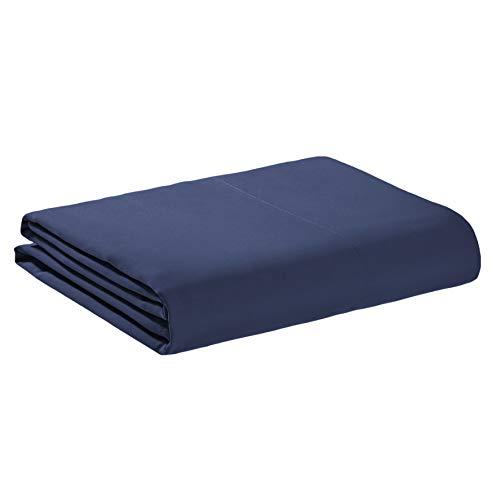AmazonBasics - Sábana encimera de microfibra premium (180 x 260 cm), azul marino