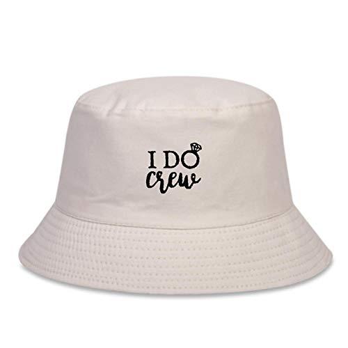 ZHENQIUFA Sombrero Pescador Gorras Sombrero De Pescador Salvaje De Moda Sombrero De Cubo Bordado Sombreros De Hip-Hop Sombreros para El Sol De Algodón Al Aire Libre-Beige