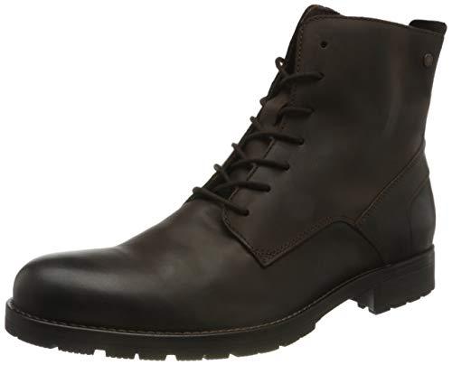 JACK & JONES Herren JFWORCA Leather 19 Stiefelette, Braun (Brown Stone Brown Stone), 42 EU