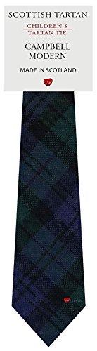 I Luv Ltd Garçon Tout Cravate en Laine Tissé et Fabriqué en Ecosse à Campbell Modern Tartan