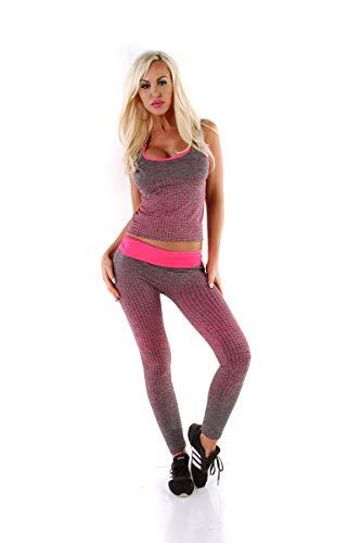 OSAB-Fashion 5561 dames sportset 2-delig joggingpak tanktop joggpants broek fitnesspak
