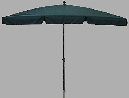 PEGANE Parasol rectangulaire centré Coloris Vert - Dim : H 250 x D 240 X 160/4 cm