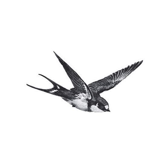 Diamoen Fliegen Schwalben Vogel-Entwurfs-Körper-Kunst-Tätowierung-Mädchen Männer Frauen Arm-Bein-Handgelenk-Fuß Hand Temporary Aufkleber