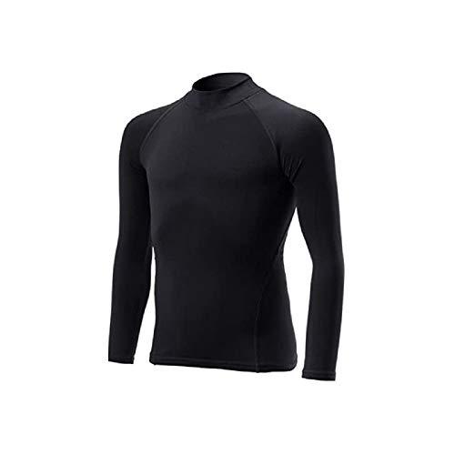[UH] アンダーウェア 長袖 160 子供 キッズ ぴったりフィット 黒 ブラック インナーシャツ ストレッチ SLS-160BK