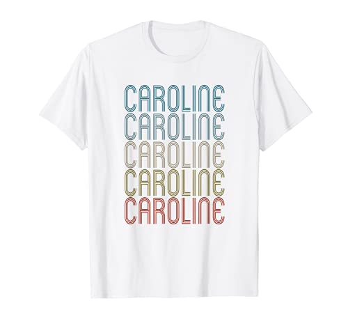 Caroline Primer Nombre Vintage Retro Camiseta