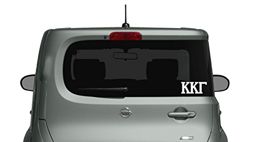 Kappa Kappa Gamma Die Cut Decal/Sticker - Car, Truck Laptop (3 Pack) (White)