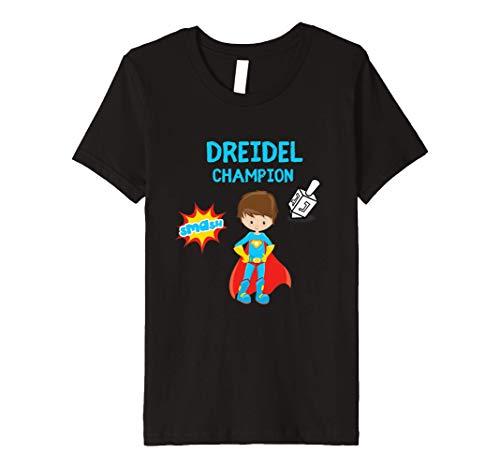 Kids Boys Hanukah Dreidel Gelt Gift Top Premium T-Shirt