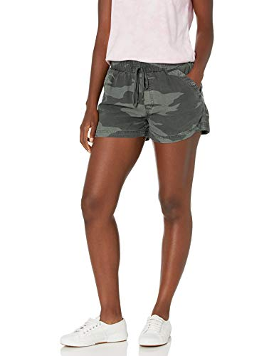 Splendid Women's Elastic Waistband Knit Relay Active Short, Camo, L