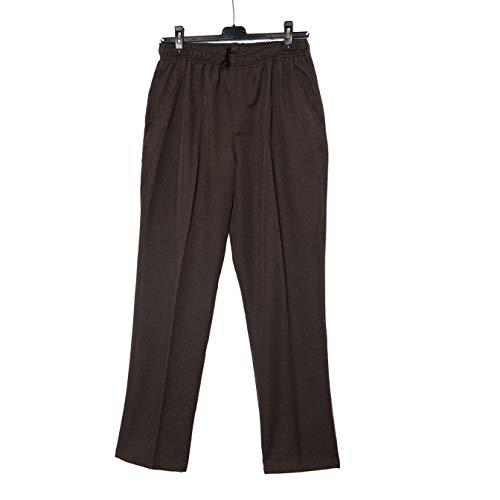 Pantalón Adaptado Hombre Color Gris/Marino - Entretiempo - Pantalon Vestir con Goma...