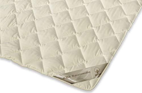 franknatur - Bettdecke Sommer Baumwolle KBA Bio Steppbett Decke Sarah 200x200