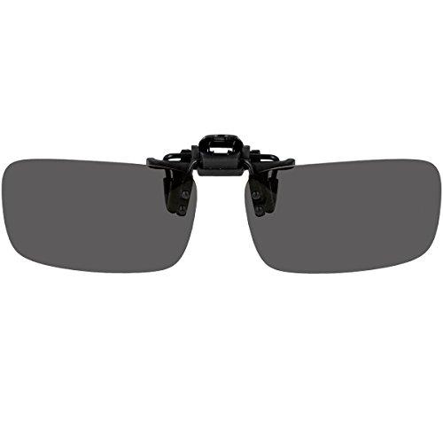 Überbrille Sonnenbrille für Brillenträger Überzieh-Sonnenbrille mit Brillen-Etui für Herren und Damen Sonnenbrillen-Clip zum Überziehen (Schwarze Gläser)