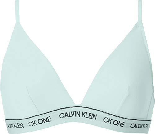 Calvin Klein Damen Unlined Triangle Geformter BH, Aqua Luster, S