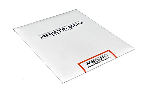 Arista EDU Ultra RC Black & White Photographic Paper, Semi-Matte #2, 8x10, 25 Sheets