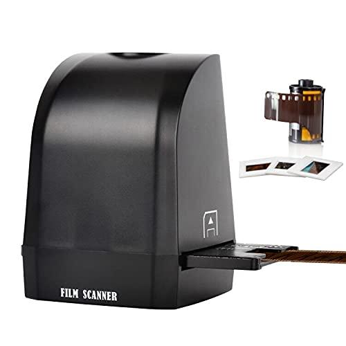 Aibecy scanner diapositive, convertitore negativi in digitale, Converter Scanner per pellicole negative portatile 8 Megapixel CMOS Converti diapositive e negativi da 35/135 mm in foto JPEG digitali