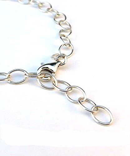 Armband Silber 925 | Länge bis 19cm mit Karabinerverschluss | individuell einstellbares Armband für Charms | perfektes Geschenk für Damen & Mädchen | Bettelarmband