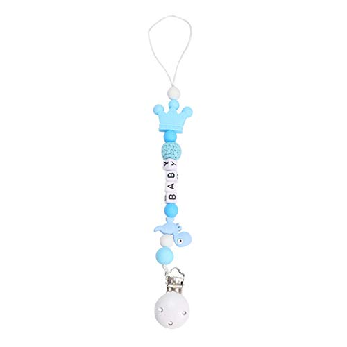 MISS KANG Baby Pacifier Clip Silicone Toether Beads Binky Holder Tize Togeting For Girls Boys Soothie Chupifier Correas Blue Qingchunw (Color : Blue)