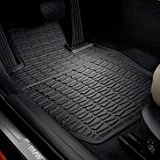 BMW OEM X1 All-Weather Rubber Floor Mats, FRONT SET- black (xDrive Models only)