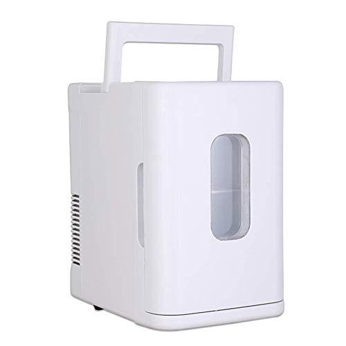 LUNAH Auto Kühlschränke Mini Kühlschrank Gefrierschrank Kühlboxen Wärmer Stille Tragbare Kleine Elektrische für Reisen Camping Tisch Schlafzimmer Getränke Bier 12 V 10 L Capacit, C