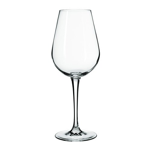 IKEA HEDERLIG - White wine glass, clear glass - 35 cl