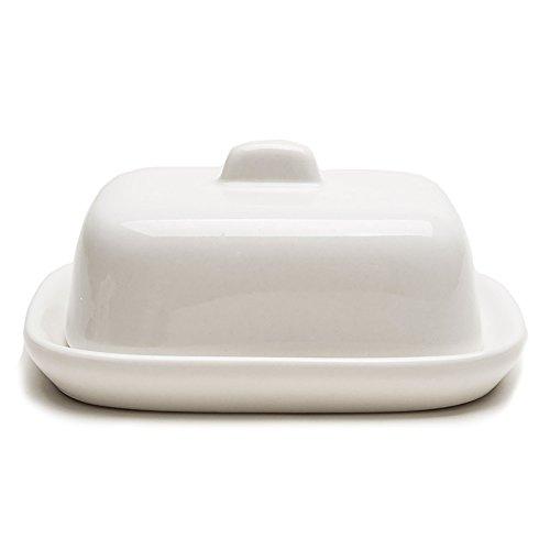 Petit Beurrier Céramique avec Couvercle Blanc