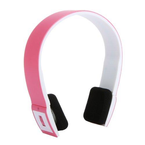 YAJIWU Auriculares, 2.4G Bluetooth V3.0+EDR Auriculares con Micrófono para iPhone iPad Smartphone Tablet PC Rosa, Rosa