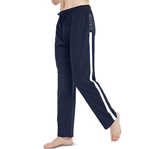 MEETWEE Pantalon de Jogging Homme, Sweatpants Open Hem Casual Survêtement Pantalons de Sport pour Sports Gym Training,Bleu,M