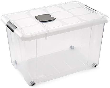 59x40x25 cm 36 litros N // A Brillant Idea Cajas almacenaje con Ruedas 2