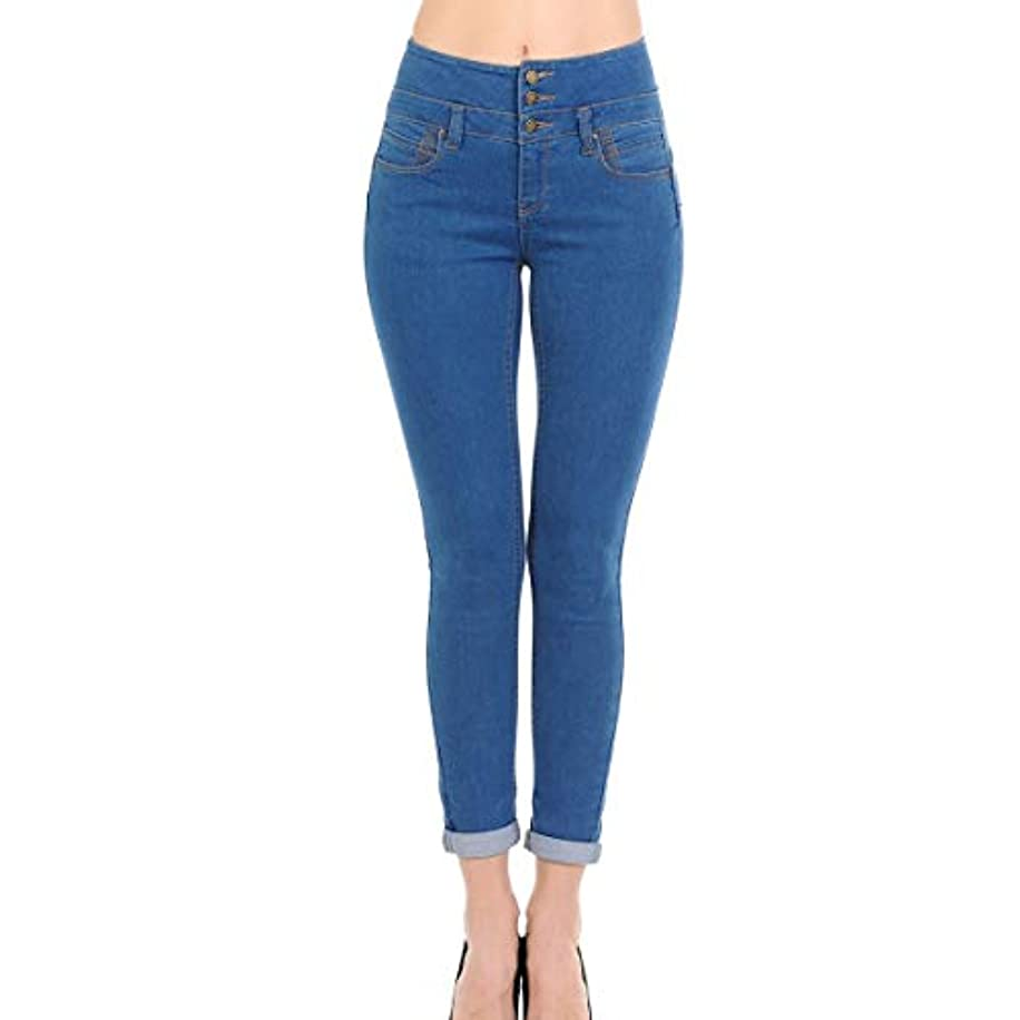 Wax Jean Skinny Push-Up Butt I Love You High Rise Stacked Waist Band Jeans