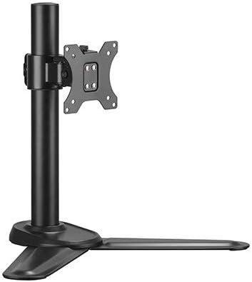 Mount Plus MP-T01 Single Monitor Stand   Freestanding VESA Steel Mount Base Riser fits 13 to 32 inch Screens   Adjustable Height, Tilt, Swivel, Rotation