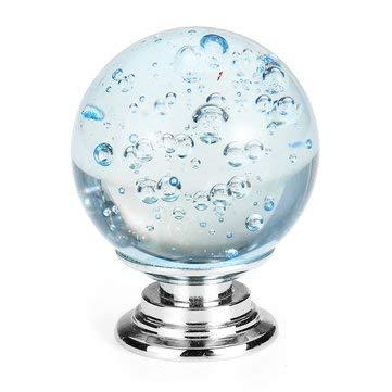 Tutoy Kristallglas Türgriffe zieht Knöpfe Zinklegierung für Schrank Kleiderschrank Schublade - Hellblau