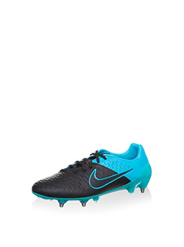 NIKE Magista Opus Leather SG-Pro Botas de fútbol, Hombre, Negro/Turquesa, EU 41 (US 8)