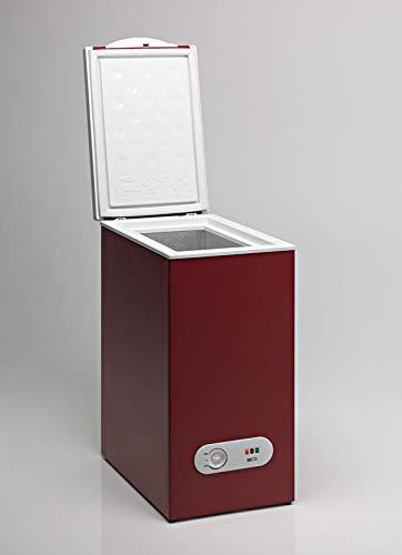 Congelador Horizontal TENSAI, color Burdeos, 60 litros de ca