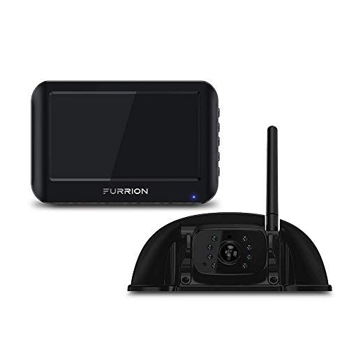 Furrion Vision S 7 Inch Wireless RV Backup System with 1 Rear Sharkfin Camera, Infrared...