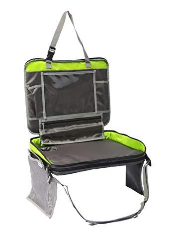 Premium Reisetisch für Kinder | Knietablett - Esstisch - Spieletisch - Maltisch | Kinderwagen - Auto - Zug - Flugzeug | geruchlos