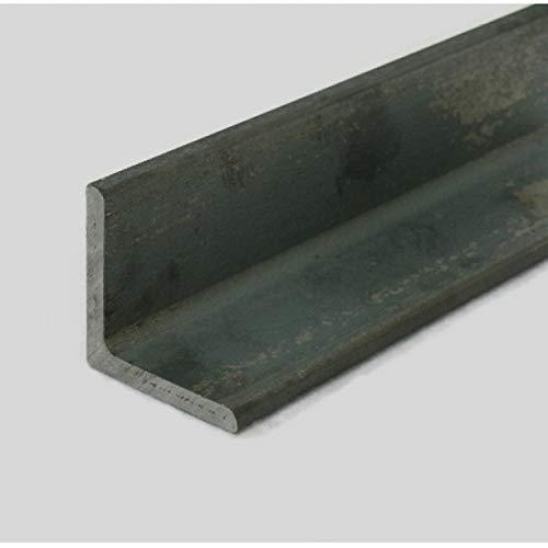 MP Metalli ferro liscio profilo a L angolare con lati disuguali grezzo 40x20 mm, spessore 4 mm, 3 mt / 3000 mm Made in Italy