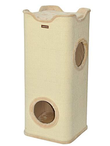 nanook Kratztonne Kratzbaum Square, XXL Höhe 100 cm, robust und stabil - beige