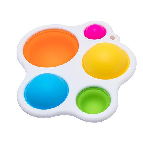 cheap4uk Tablero de volteo de Silicona Colorido Juguetes sensoriales Juguete Educativo temprano Juguete para la dentición del bebé Juguetes de Desarrollo temprano para bebés niños
