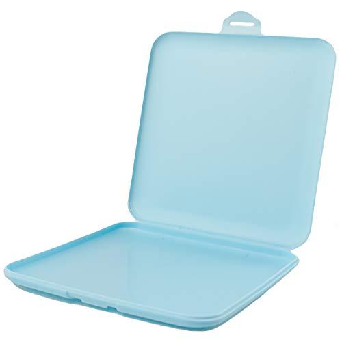 Estuche Almacenamiento para Guarda Mascarillas, Caja de Almacenamiento para Mascarillas a Prueba De Polvo Impermeable Grosor 10mm- Azul