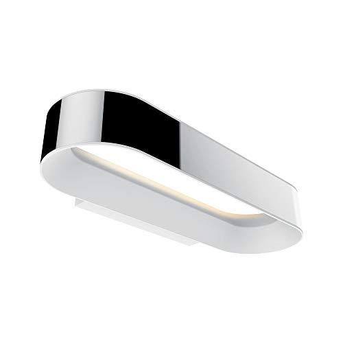 Paulmann 70948 LED Deckenleuchte Wandleuchte Agena incl. 1x20 Watt IP44 dimmbar Deckenlampe Chrom, Weiß matt Wohnzimmerlampe Alu, Edelstahl Flurlampe 2700 K