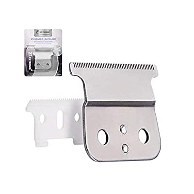 BESTBOMG Pro T outliner Ceramic Blade Hair Clipper/Trimmer Replacement Blades #04521-Compatible with Andis T Outliner Clipper (Silver Upgraded) by BESTBOMG